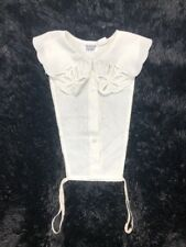 Fashion Front Vintage Dickie Collar Button Front Collared Embroidered Costume