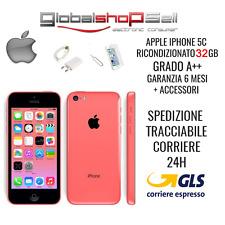 apple iphone 5c 32 gb grado A+ + ROSA ROSSO originale rigenerato ricondizionato