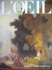 REVUE ART L'OEIL N° 386 de 1987 FRAGONARD TELEKI CAILLER EDITEUR CAMEE ST MICHEL