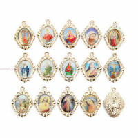 Catholic Religious Enamel Crosses Art Medals Charms Pendants Accessories 23mm