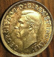 1940 CANADA SILVER 25 CENTS COIN - Toned Uncirculated