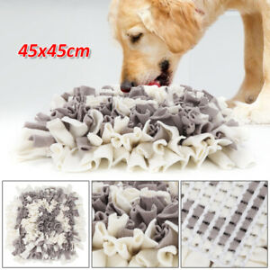 "18"" Pet Snuffle Mat Dog Cat Food Mat Pressure Relief Nosework Training Washable"