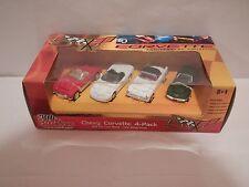 Racing Champions Chevy Corvette 4-Pack 1:64