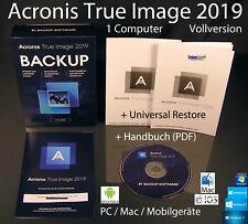 Acronis True Image 2019 Vollversion 1 PC/Mac Box, CD + Universal Restore OVP NEU