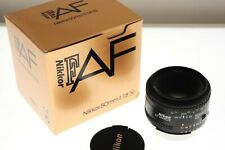 Nikon AF-Nikkor 50mm f/1.8 auto focus standard lens. EXC++ boxed condition.