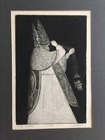 "Joseph Anthony Mugnaini (1912-1992) Etching Print ""The Prelate"" AP/30, Signed"