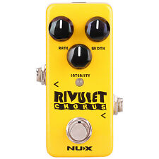 Nux Mini Core Rivulet Chorus Guitar Effects Pedal +Picks