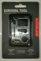 Kikkerland Stainless Steel 11 Function Survival Tool with Pouch  NEW