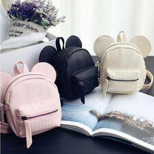 2019 Disney Mickey Minnie Mouse Leather Backpack Mini Portable Bag Cute Ear Pink