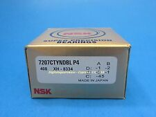 NSK 7207CTYNDBLP4 Abec-7 Super Precision Spindle Bearings. ( Set of Two )