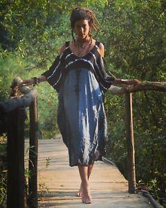 Long tunic dress TIE DYE KAFTAN Poncho MAXI DRESS Gypsy boho dress FREE Post UK