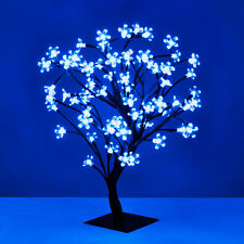 Modern Blue LED Bonsai Cherry Blossom Tree with 72 Blue Fairy Lights Twig Lamp