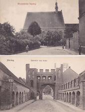 AK-Jüterbog-Mönchenkirche u.Dammtor-2 Karten