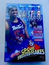 1998-99 Vince Carter Cocoa Frosted Flakes Cereal Box Mint Full ROY Raptors A3