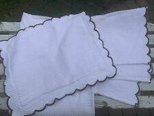 White Matelasse Baby Crib Dust Ruffle/Pillow Sham Scalloped Pottery Barn Kids