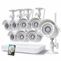 Zmodo 1080p 8CH WiFi NVR 8 Wireless IP IR Video Camera Home Security System 1TB