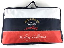 PAUL & SHARK Yachting Collection navy blue red white logo embroidery nylon bag