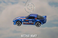 Mazda Rx-7 Racing Car Custom Christmas Ornament 1/64 Rare Blue Chrome Rx7