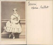 Paris, Jousse, danseuse de l'Opéra CDV vintage albumen. Tirage