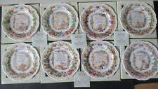 VERY RARE BOXED SET BRAMBLY HEDGE 8 RECIPE PLATES 2003