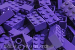 LEGO BRICKS 25 x DARK PURPLE 2x4 Pin - From New Sets Sent in a Clear Sealed Bag