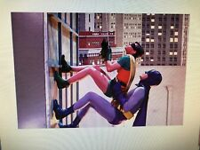 BATMAN AND ROBIN TV SERIES 24X36 POSTER SCALING BUILDING CLASSIC JOKER WAYNE NEW