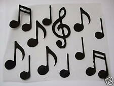MUSIC NOTES BLACK iron-on transfer applique patch song