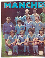MANCHESTER CITY 1978-1979 ORIG HAND SIGNED DOUBLE PAGE TEAM GROUP WITH 15 X SIGS