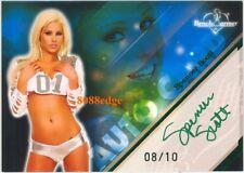 2009 BENCHWARMER GREEN FOIL AUTO: SPENCER SCOTT #8/10 AUTOGRAPH