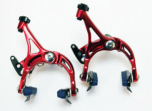 Fouriers BR-S003 Road Bicycle Bike Front&Rear C-Brake Caliper Set 1pair Red 246g