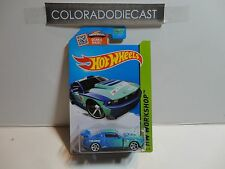 2015 Hot Wheels #240 Blue Custom '12 Ford Mustang w/White MC5 Wheels