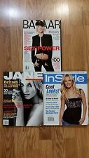 Lot of 3 Britney Spears Fashion Magazines