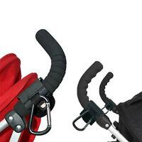 2x Neu Buggy Mummy Clips Kinderwagen-Einkaufstasche Haken Karabiner-Clip Neue.
