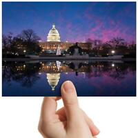 """United States Capitol Building Small Photograph 6""""x4"""" Art Print Photo Gift #8904"""