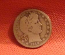 1913-S Barber Liberty Head Quarter  (ref#2)
