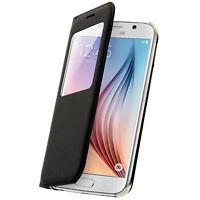 Cover Klappe Fenster Samsung Galaxy S6 - Cover Schwarz