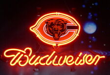 "New Chicago Bears Budweiser Man Cave Neon Light Sign Decor Bar Pub Gift 20""x16"""
