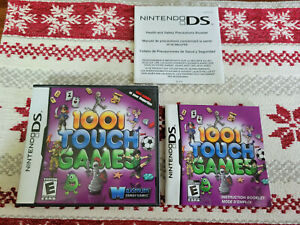 1001 Touch Games - Authentic - Nintendo DS - Case / Box and Manual Only!