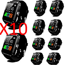 10Pcs (Black) Bluetooth Smart Watch for iPhone Android Phone Samsung HTC