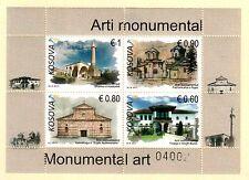 Kosovo Stamps 2017. Monumental Art, Religious. Set Sheet MNH