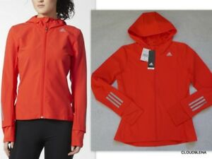NWT ADIDAS Water Repellent RESPONSE Soft Shell Energy Running Hooded Jacket S