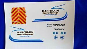 1:50 Scale Mar-Train Inkjet Waterslide Decals,Mercedes Sprinter Van Code 3