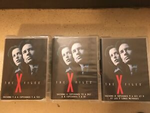 LOT 3 COFFRETS  61 DVD THE X FILES INTEGRALE SAISON 1 A 9