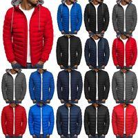 Winter Men Puffer Bubble Down Hoodie Jacket Outwear Warm Zip Quilted Padded Coat