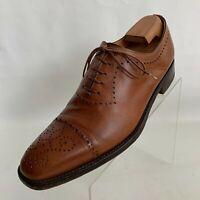 Paul Stuart Oxfords Cap Toe Brogue Mens Brown Leather Lace Up Shoes Size 8.5
