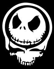 Skull Decal Jack Skellington Nightmare Before Christmas Vinyl Window Sticker
