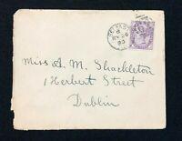 Postal History Ireland, Victorian Cover from Belfast to Dublin 1890, 62 Duplex