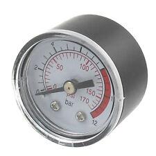 ET 0-12 Bar 0-170PSI 10mm Gewinde Gas Luftpumpe Druck Gauge Kompressor Manometer