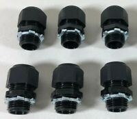 (6X) Heyco 1/2 in. NPT 3-Hole Strain Relief Cord Grip Cable Gland w/ nut Lot NEW