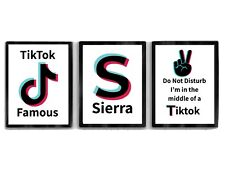 Personalised A4 Set Of 3 TikTok Posters Prints Girls Gift NO FRAME